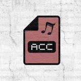 Computer acc file icon. Design of computer acc file icon Stock Photos