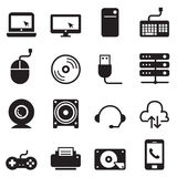 Computer and Accessories Icons set Royalty Free Stock Image