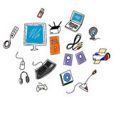 Computer accessories Royalty Free Stock Photo