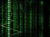 computer achtergrond, binaire code, matrijsstijl Royalty-vrije Stock Afbeelding