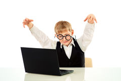 Computer addict Royalty Free Stock Images