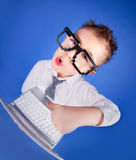 Computer addiction concept Royalty Free Stock Image