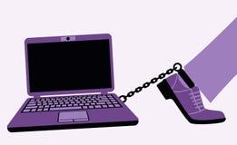 Computer addiction. Royalty Free Stock Image