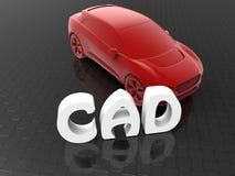 Computer aided design - car design concept vector illustration