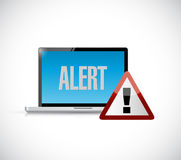 Computer alert warning concept illustration design Royalty Free Stock Photos