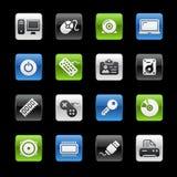 Computer & de Reeks van // Gelbox van Apparaten stock illustratie