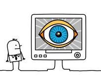 Computer & grote broer Royalty-vrije Stock Afbeelding