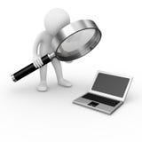 Computer analysis Stock Photo