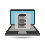 Computer analysis data base server. Vector illustration eps 10 Stock Photo