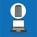 Computer analysis data base server. Vector illustration eps 10 Stock Images