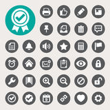 Computer And Application Interface Icon Set Stock Image