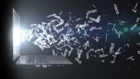 Computer angesteckt mit einem Virus Weiße getrennte 3d übertragen vektor abbildung