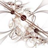 Computer-Animation: Marmore auf Linien und Kurven mit Blumen Lizenzfreie Stockbilder