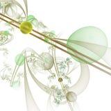 Computer-Animation: Marmore auf Linien und Kurven mit Blumen Lizenzfreie Stockfotos