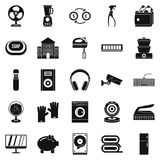 Computer app icons set, simple style. Computer app icons set. Simple set of 25 computer app vector icons for web isolated on white background Stock Images