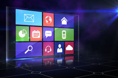 Computer applications. Icon menu in purple royalty free illustration