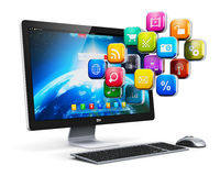 Computer applications and internet concept Stock Images