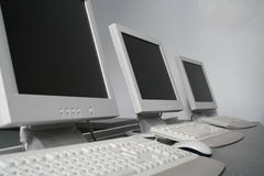 Computer-Arbeitsplätze Stockfotos