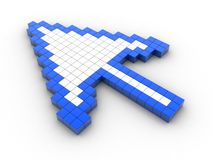Computer arrow cursor 3d. 3d render of a computer arrow cursor 3d Royalty Free Stock Photo