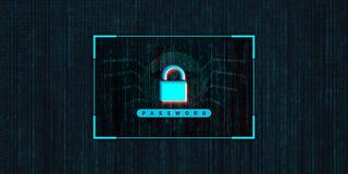 Computer astratto che incide la foto di riserva del fondo, concetto cyber di crimine illustrazione vettoriale