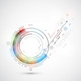 Computer astratto del fondo di tecnologia di colore/tema di tecnologia Immagini Stock Libere da Diritti