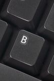 Computer B key Stock Photography