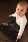 Computer baby Royalty Free Stock Photography
