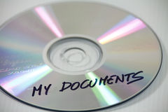 Computer back-up disc Royalty Free Stock Images