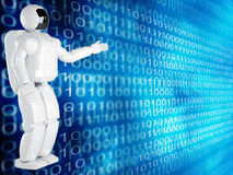 Computer background with robot Royalty Free Stock Photo