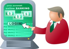 Computer banking Stock Images