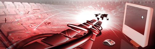 Computer banner Stock Photography
