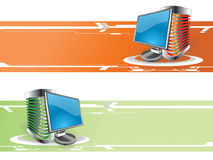 Computer banner Royalty Free Stock Images