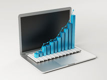 Computer Bar Graph Royalty Free Stock Image