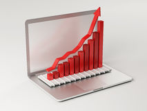 Computer Bar Graph. On white background Stock Images