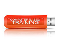 Computer based training concept. Stock Image