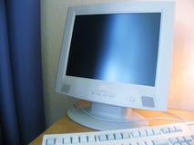 Computer bij het hotel Royalty-vrije Stock Afbeeldingen