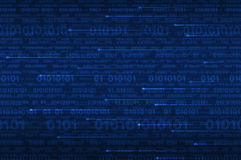 Computer binary code on blue royalty free stock photography