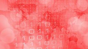 New computer technology world innovation inspiration. Computer binary code and world map Stock Photography