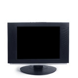Computer black screen isolated Royalty Free Stock Photos