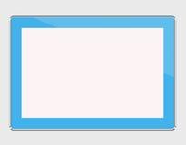 Computer blu della compressa isolato sul bianco Immagine Stock