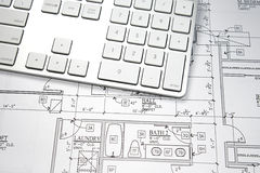 Computer Blueprint Stock Image
