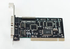 Computer board. Used for communication via COM ports Stock Image