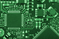 Computer board #2 in green style royalty free stock images