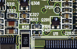 Computer Board. Part of a computer board Royalty Free Stock Photos