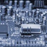 Computer Board. Circuits close-up Stock Photos