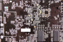 Computer board brown texture stock images