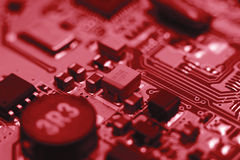 Computer board with chips Stock Image