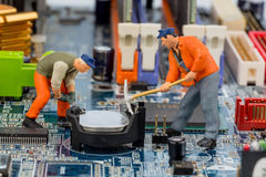 Computer board and construction Royalty Free Stock Image
