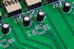 Computer board detail Stock Image