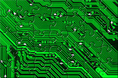 Computer board made of puzzle Royalty Free Stock Images